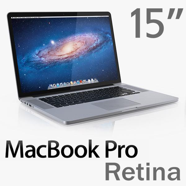 MacBook Pro Retina display 3D Models