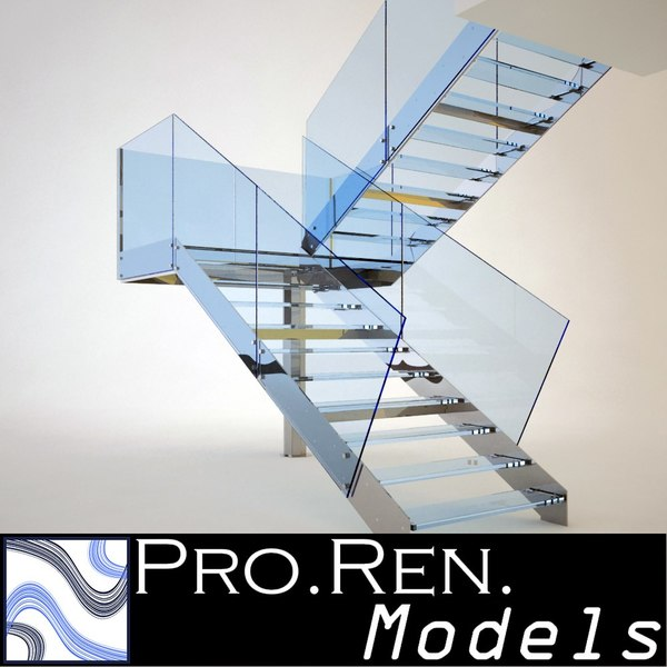 Stair for architectural interiors 001 3D Models
