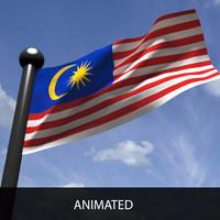 Malaysian Flag 3D models