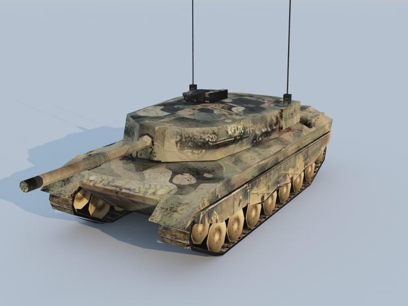 german leopard 2a4 3d max