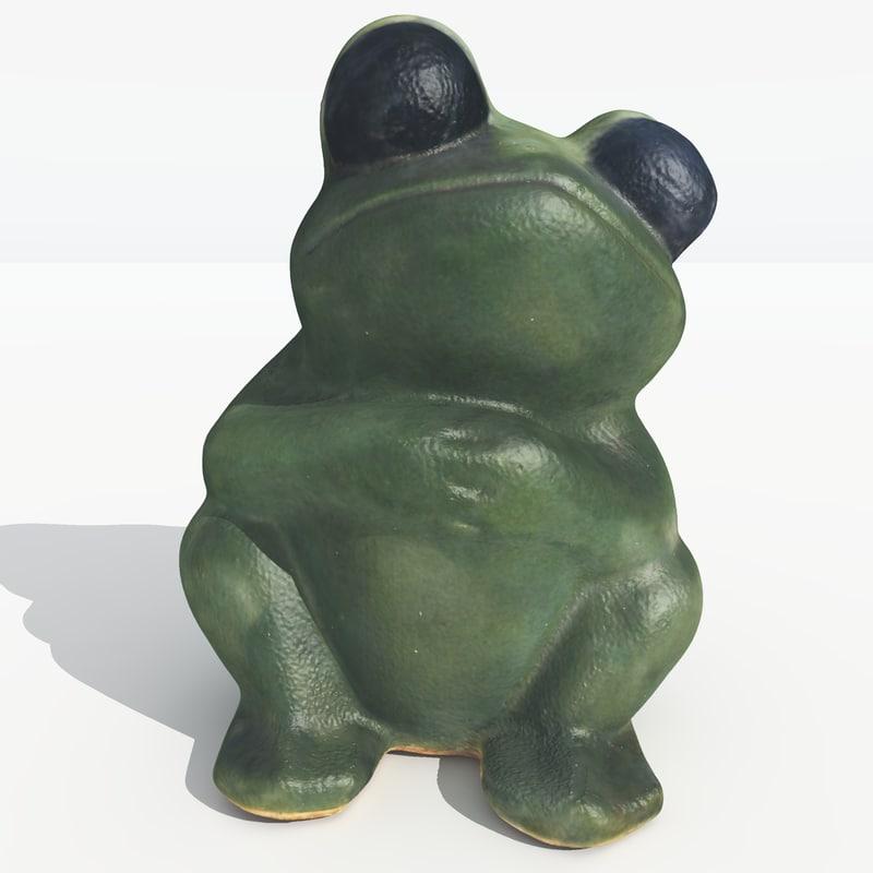3D scan Garden Frog