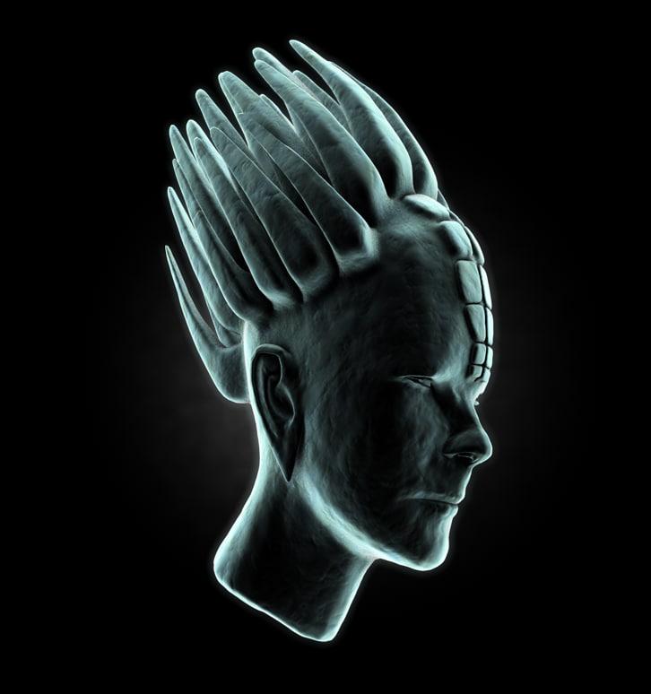 3ds alien head