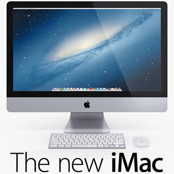 The New iMac 2013 2014 3D Models