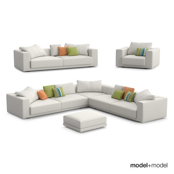 MDF Italia Sliding sofas and armchair 3D Models