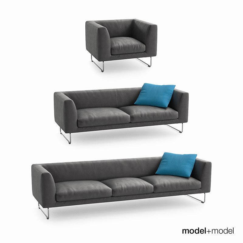 Cappellini Elan sofas and armchair