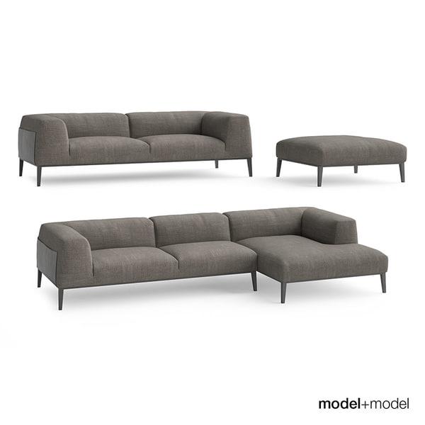 Poliform Metropolitan sofas 3D Models