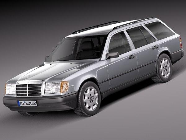 Mercedes-Benz E-class W124 Kombi 3D Models