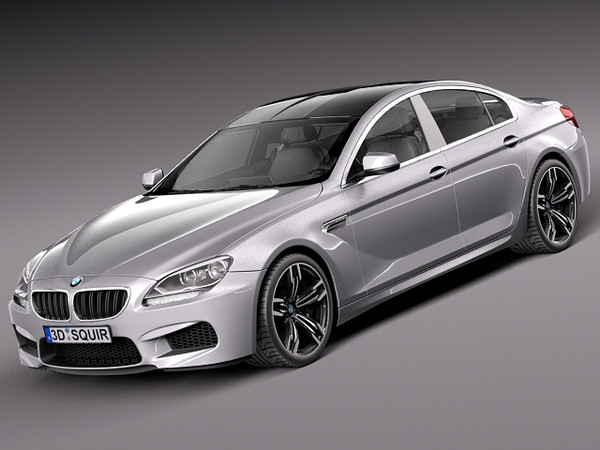 BMW M6 Grand Coupe 2014 3D Models