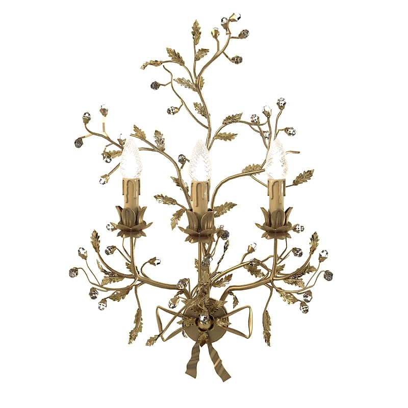 Mechini  522 A  classic  Wall Lamp conce crystall glass luxury floral leaf cast swarowski0001.jpg