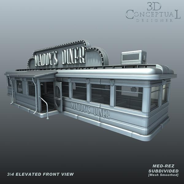 Vintage 1930's Diner1 3D Models