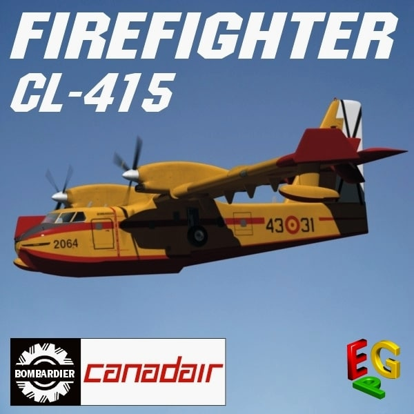 CL 415 FIREFIGHTER 3D Models