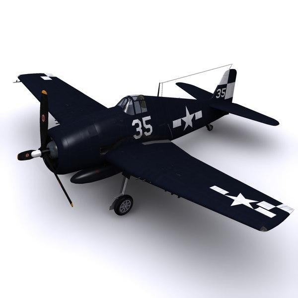 F6F-5 Hellcat - USS Hornet 1945 3D Models