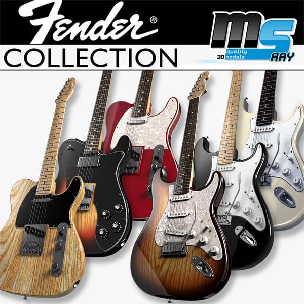 Fender Guitars Collection 3D Models
