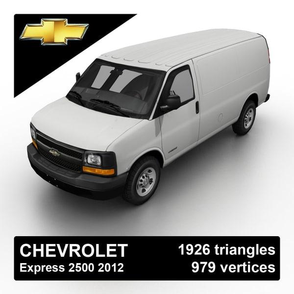 Chevrolet Express 2500 2012 3D Models