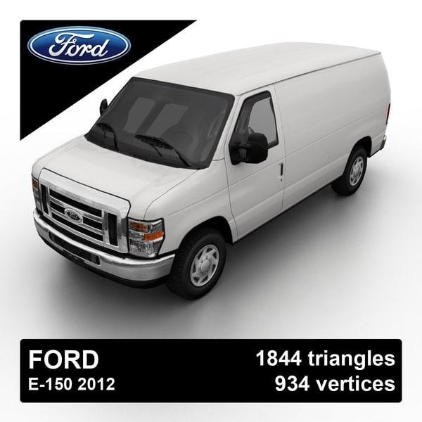 Ford E-150 2012 3D Models