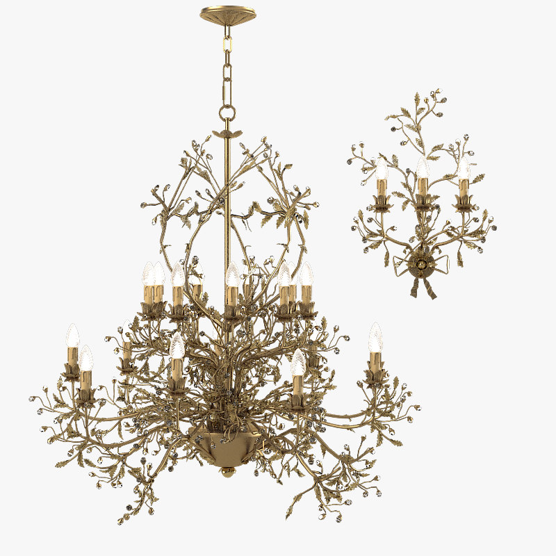 a Mechini L202 Floristic Classic Romantic chandelier baroque luxury big famous branch candle diamond swarowski rococo 0001.jpg