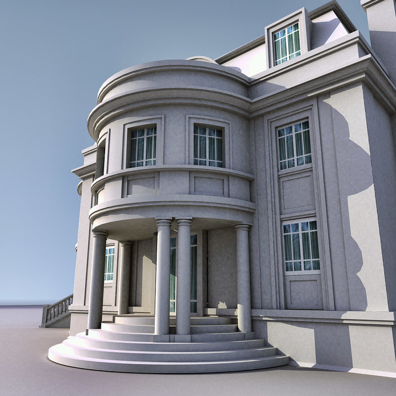 3d max house building villa for 3d max house model