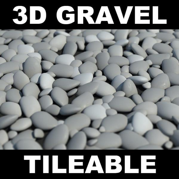 Gravel round Texture Maps