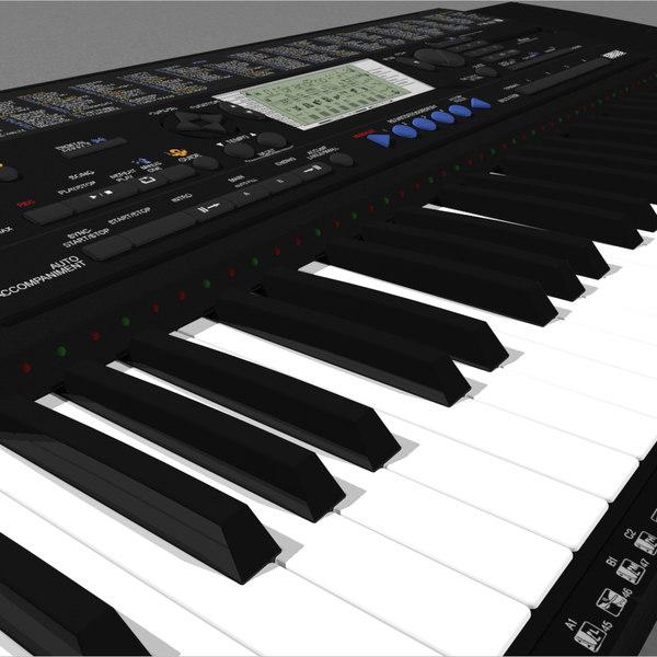 Keyboard: Yamaha PSR420: C4D Format 3D Models