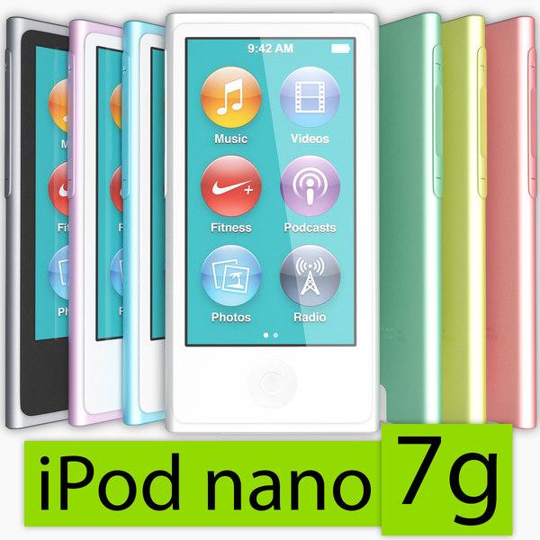 Apple iPod nano 7g 3D Models