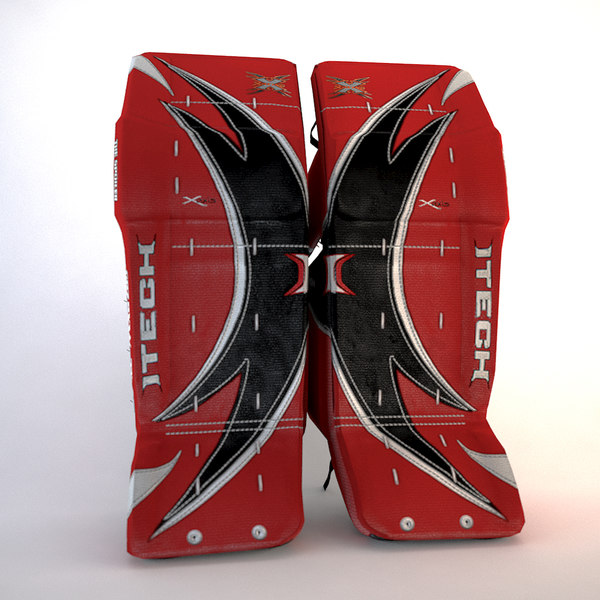 Itech XWing Ice Hockey Goalie Pads 3D Models