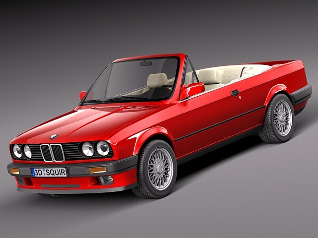 3d model bmw e30 316i convertible. Black Bedroom Furniture Sets. Home Design Ideas