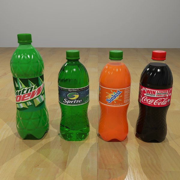 Plastic Pop Bottles 3D Models