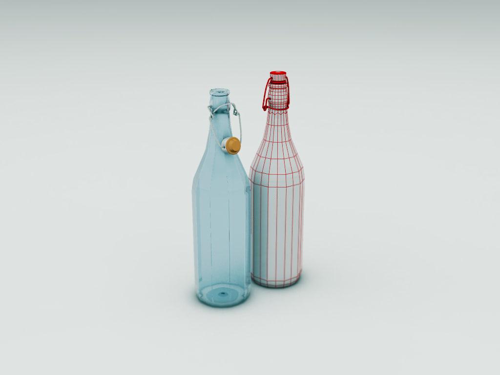 bottle 3d model. Black Bedroom Furniture Sets. Home Design Ideas