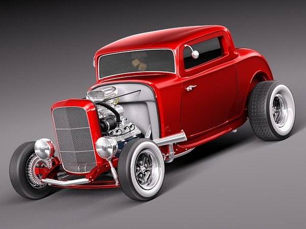 Ford model B 1932 Duce Coupe 3D Models