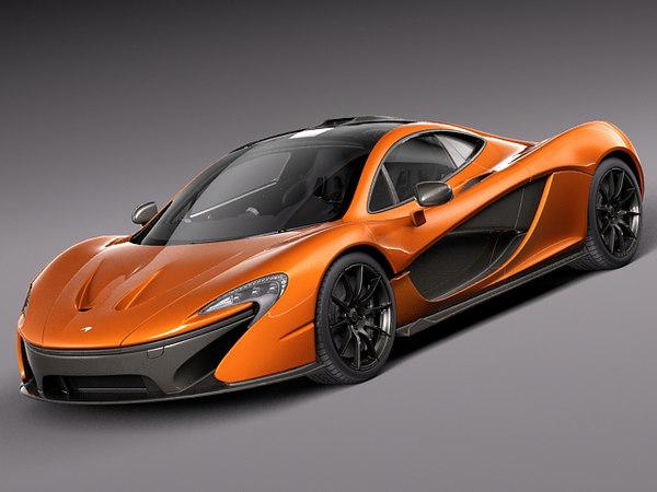 McLaren P1 concept 2013 3D Models