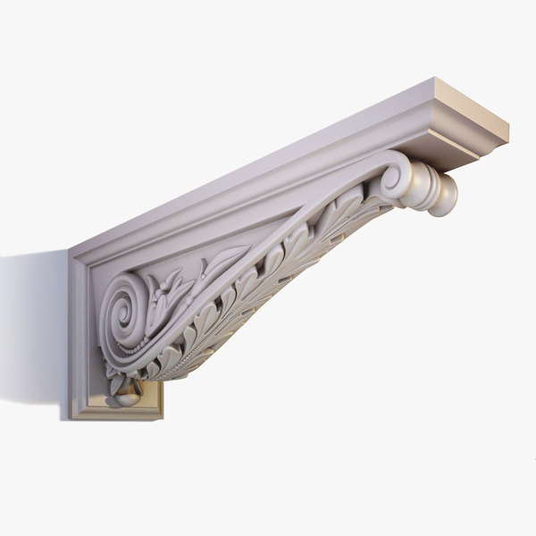 Ornate Corbel Bracket el43 3D Models
