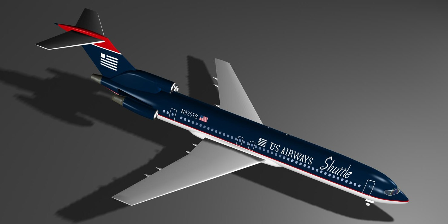 airways 727 227 shuttle 727 max