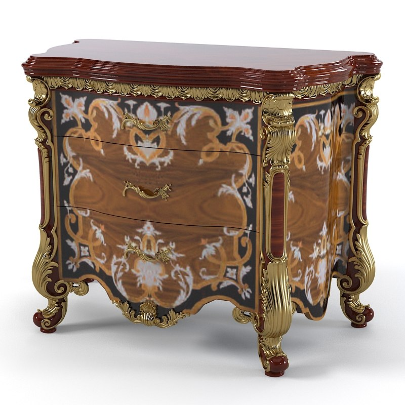 Armando Rho A 915 Classic Baroque Bedroom nightstand  commode classic marquetry empire carved luxury0001.jpg