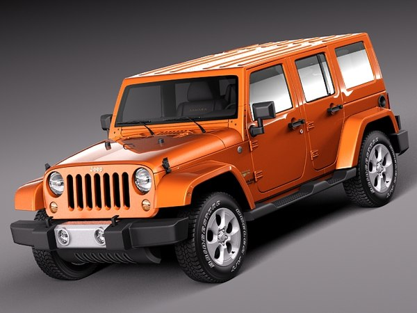 Jeep Wrangler Unlimited Sahara 2013 3D Models