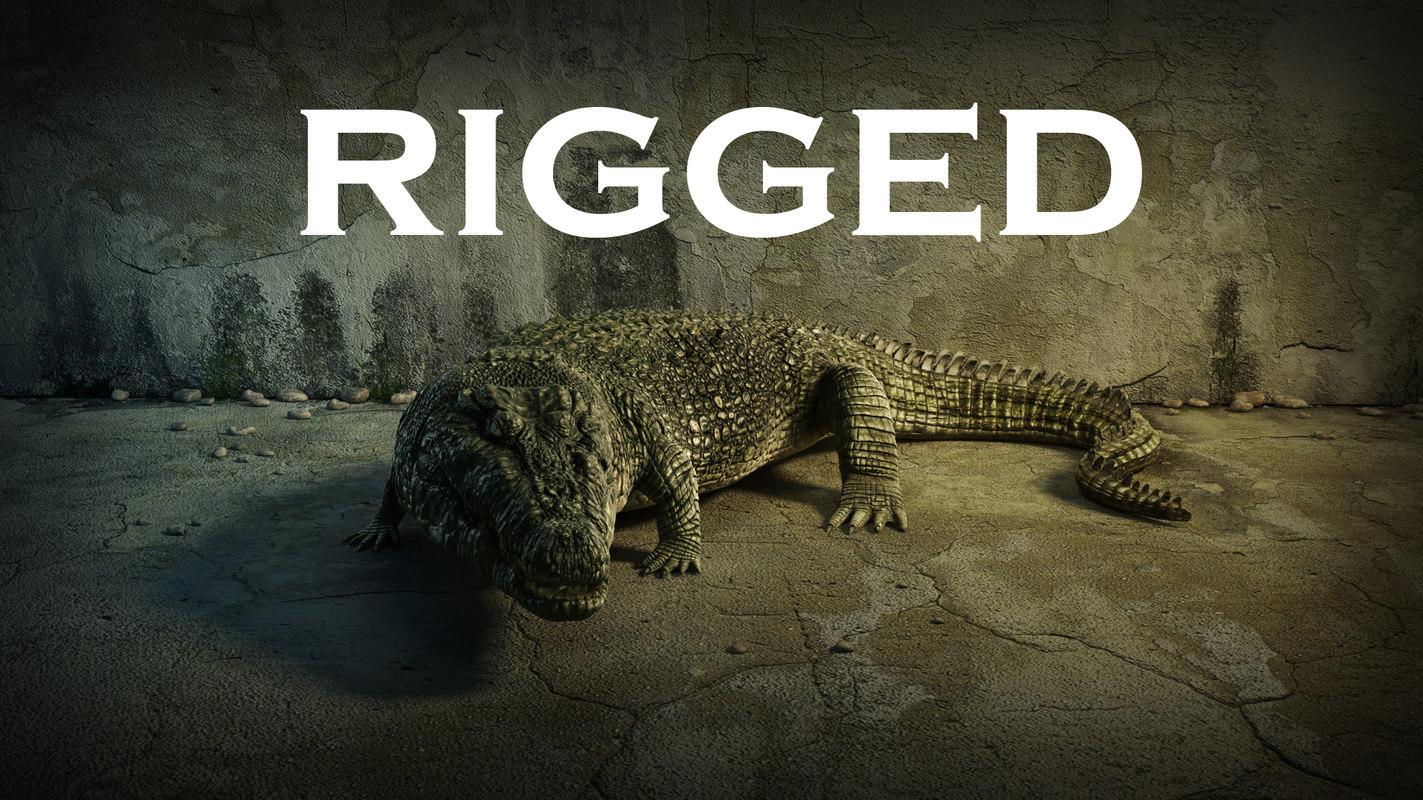 Crocodile rigged