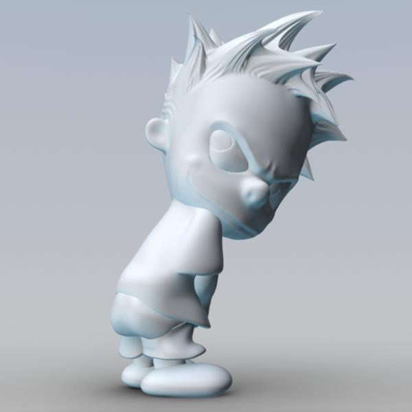 Calvin Peeing 3D Models