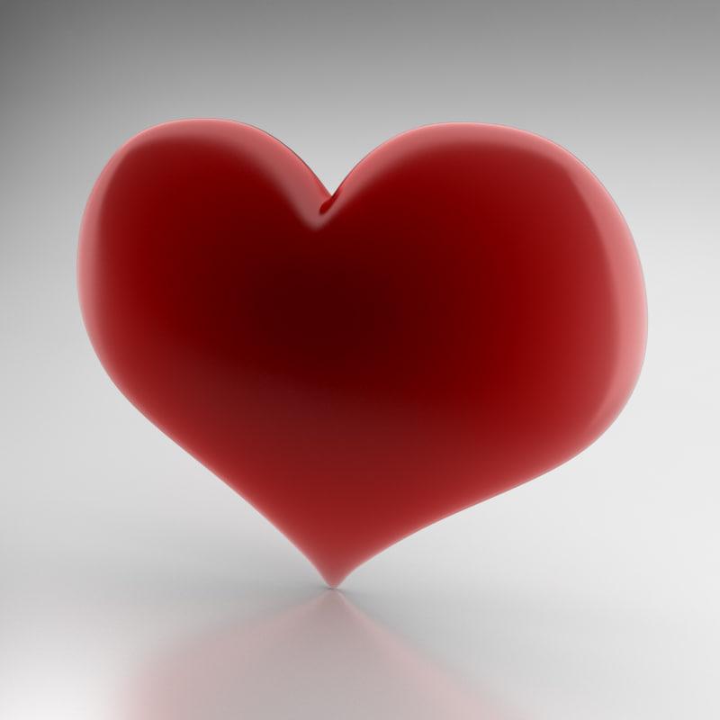 3d model icon heart