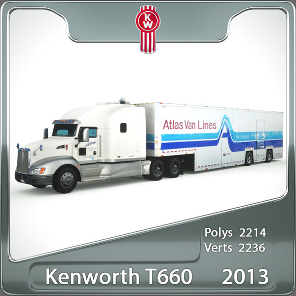 Kenworth T660 2013 3D Models