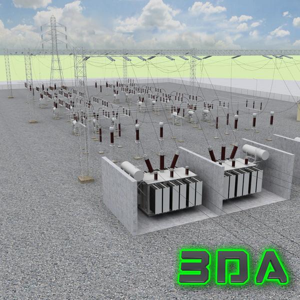 Electrical substation 3D Models
