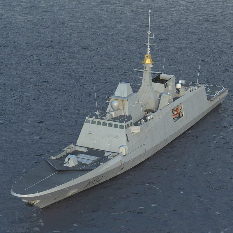 French Navy FREMM Frigate D650 Aquitaine