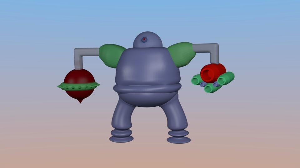 blender robot weapons
