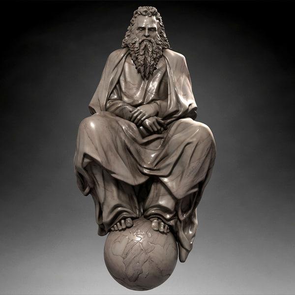 God statue 3D Models