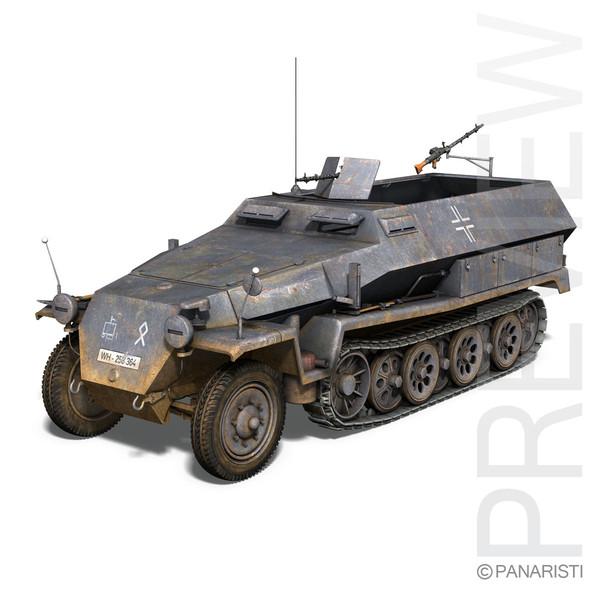 SD.KFZ 251/1 Ausf.C - Half-track 3D Models