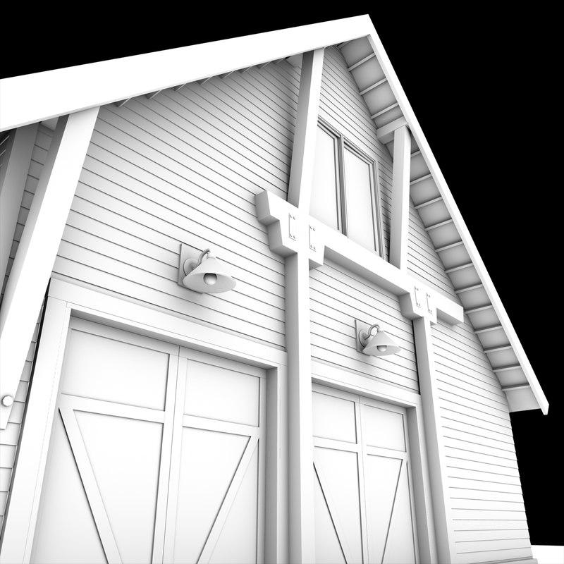 Car Garage 3d Model 3d Model Duel Car Garage Barn