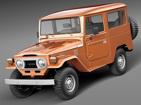 Toyota Land Cruiser FJ40 1960-1984 3D Models