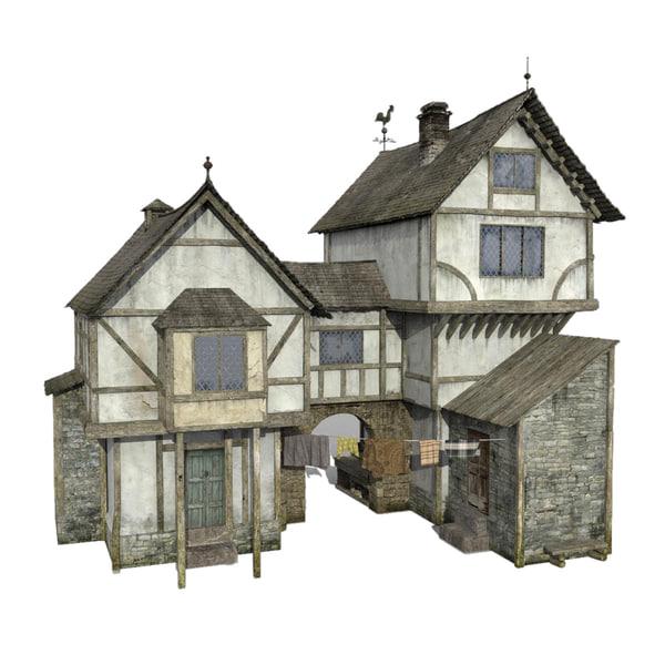 Tudor House 3D Models