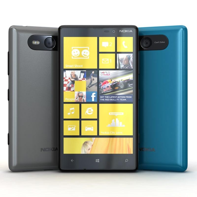 Nokia Lumia 820 Blue, Black and Gray