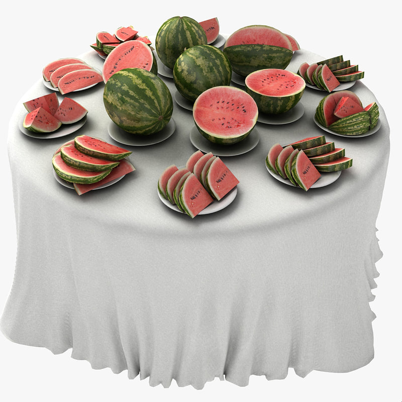 Melon Table Fruit Dish Restaurant