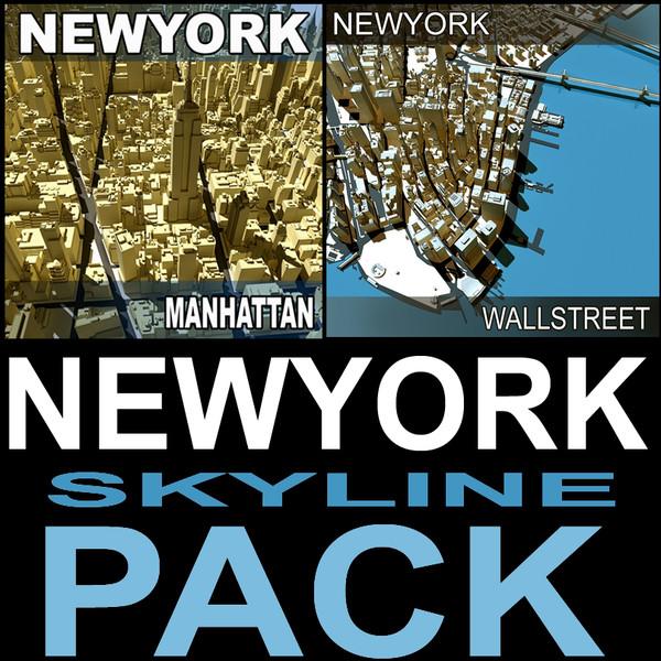 Newyork Skyline Pack 3D Models