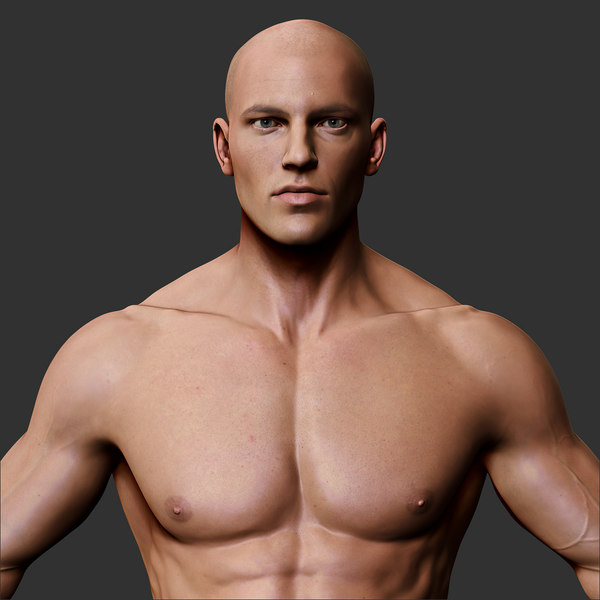 Realistic Male Body 3D Models